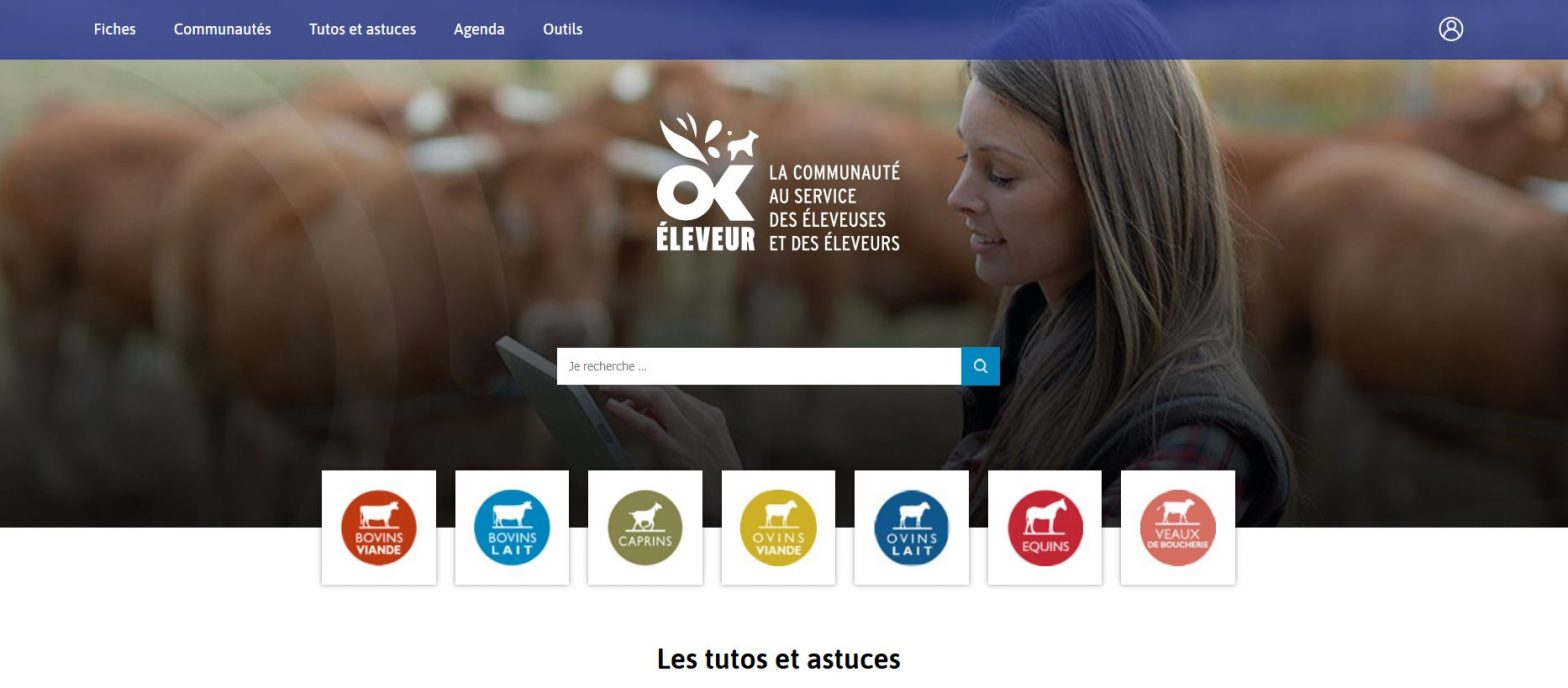 Plateforme numérique pour l'élevage - Ok Eleveur
