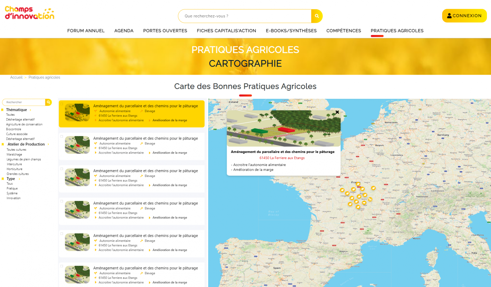 Cartographie des pratiques agroécologique en Normandie